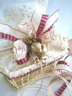 クリスマスバスケットDeco